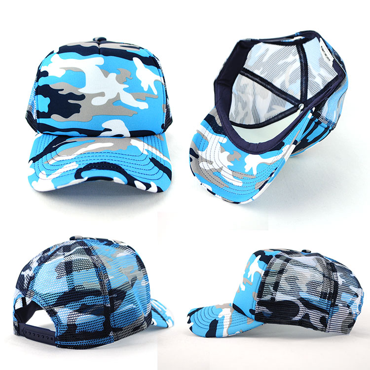 Camouflage caps are becoming very popular and are available in a wide range of models.