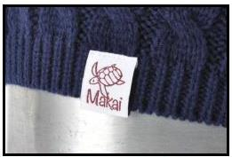 Folded woven label on Beanie. Great for custom promotions